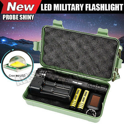 G700 CREE 8000LM XM-L2 T6 LED Zoom Tactical Military Flashlight Super Torch Set