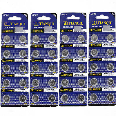 Hot 50 PCS AG13 LR44 SR44 LR1154 357A A76 357 SR44SW Alkaline Watch Battery