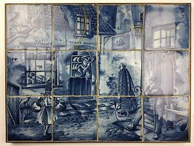 "Antikes Fliesenbild Kachelbild Delft Dutch Tiles "" Brood Bakker """
