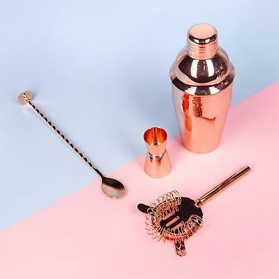 Rose Gold Cocktail Set Stainless Steel Shaker Set