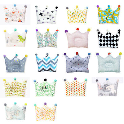Newborn Infant Baby Soft Pillow Anti-Roll Memory Positioner Prevent Flat Head US