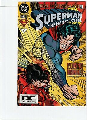 Superman Man Of Steel # 52 !! 1996 Dcu Logo Variant !! Low Print Run .99 Auction