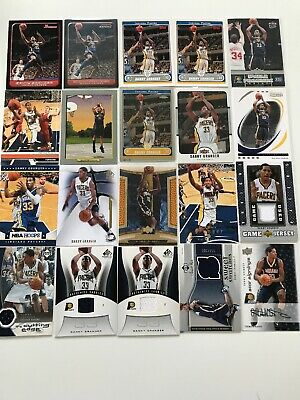 Danny Granger Card Lot Pacers Nba Basketball Karten Jersey Signings Game Used
