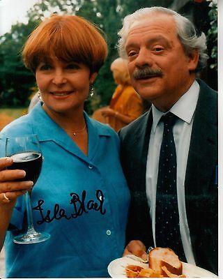 ISLA BLAIR hand-signed A TOUCH OF FROST 8x10 w/ uacc rd coa DAVID JASON CLOSEUP