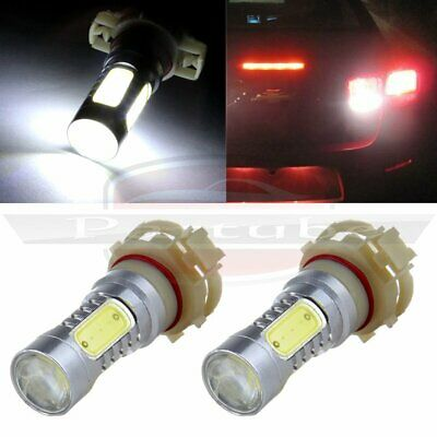 White 2pcs Projector 60W H16 PS24W 5202 LED Bulbs For Fog Lamp Daytime Lights