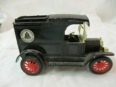 Vintage Hong Kong Ertl Co Bank Diecast metal replica of 1913 Model T Van AT&T