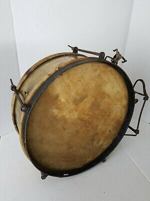 RARE Antique DUTCH MILITARY Field Snare Drum Brass & Iron Marked WPZ 1864