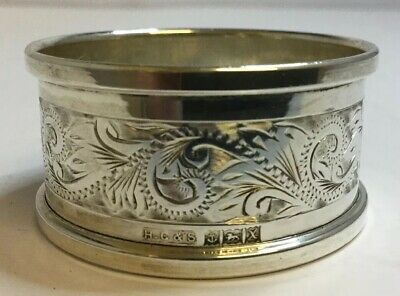Vintage Solid 925 Sterling Silver Napkin Ring - Henry Griffith & Son, 1972 - 14g