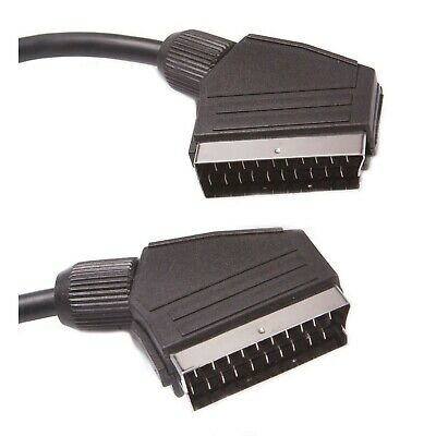 21 Pin Scart To Scart Cable Lead Male To Male TV VCR Composite S-VHS RGB 1.5m