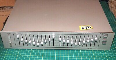 vintage ROTEL stereo 2 x 10 band graphic equaliser RE-860 hifi seperate