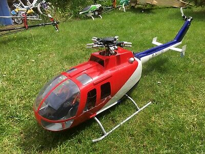 SCALE HELICOPTER TREX 600 with MD 500E Fuselage incl Futaba Radio