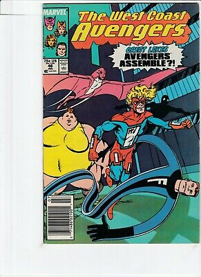 West Coast Avengers # 46 !!3! 1989 1St Appearance Great Lakes Avengers .99 Aucti