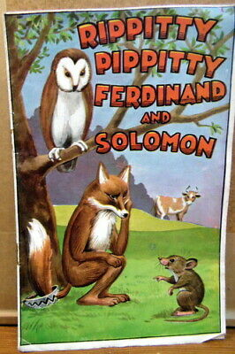 Rippitty Pippitty Ferdinand and Solomon vintage cut out rhyming stories vintage