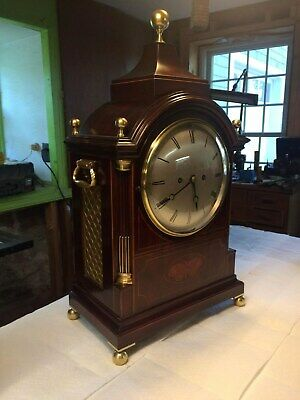 ca.1890 English ( Elliott ) 8 Day Fusee Bracket Clock