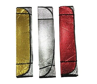 Reflective Folding Foil Metallic Car Windscreen Sun Shade Universal 3 Colours UK