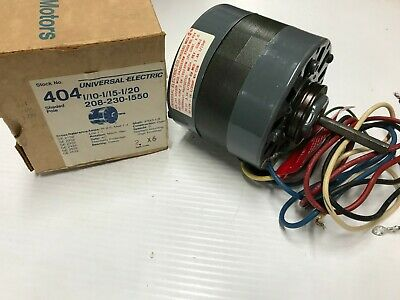 Universal Electric Stock# 404 Motor 1/10-1/15-1/20HP - 208-230V - 1550RPM