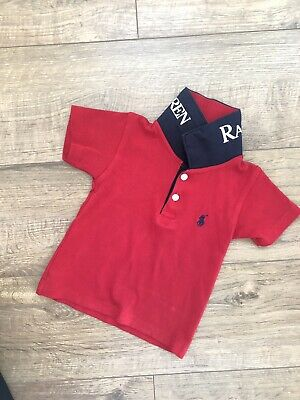 Size 18 Months Polo T Shirt Inspired Ralph 12 Sleeved Baby Lauren Top Short Boys f6I7vYbyg