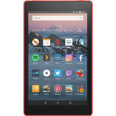 """Amazon Fire HD 8"""" 16GB WiFi Tablet Punch Red"""