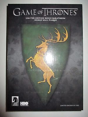 Game of Thrones Renly Baratheon Shield Wall Plaque Limited Edition Dark Horse