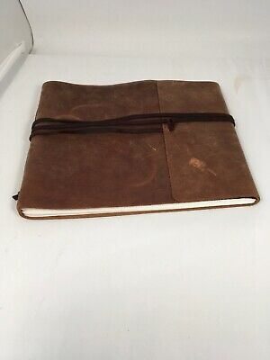 Leather Journal Notebook Diary Handmade Vintage Blank Bound Book Trl-cvr 10 x 8""