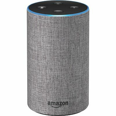Echo 2nd Generation Smart Assistant Speaker with Alexa Heather Gray Fabric