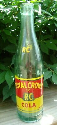 RC Royal Crown Cola 10oz Green Glass Bottle Nehi Bottle Co Springfield SALE