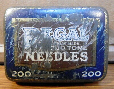 Vintage Regal Loud Tone gramophone needle tin with  needle