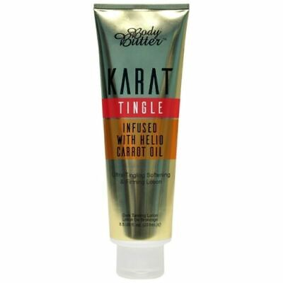 KARAT BODY BUTTER TINGLE HOT (No Bronzers) SUNBED TANNING LOTION CREAM +GIFT