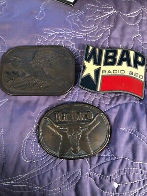 Vintage belt buckle lot