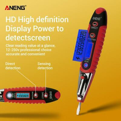 ANENG AC/DC 12-250V LCD Digital Display Voltage Pen Detector Tester Screwdriver
