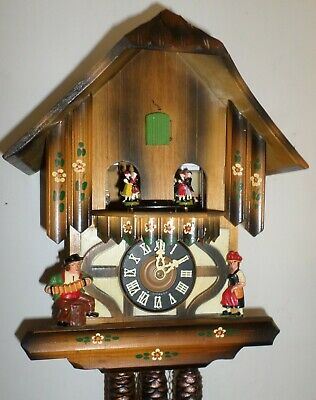 Nice German Black Forest Emil Schmeckenbecher Music Dancers Chalet Cuckoo Clock!
