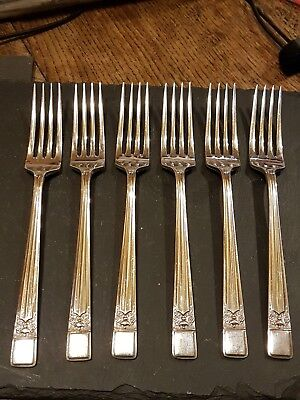 Turtons Silver Plated Dinner Forks set of 6 Sheffield.