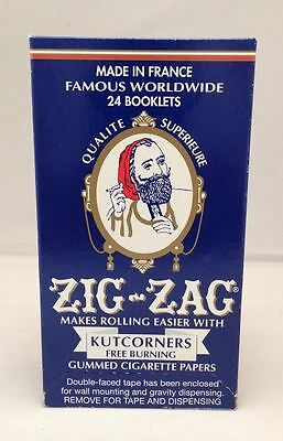 Zig-Zag Kutcorners Free Burning Gummed  Cigarette Rolling Papers 24 Booklets.