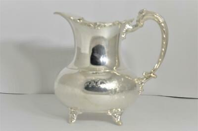 Vintage Silverplate Footed Pitcher Ice Lip Ascot Sheffield Design by Community