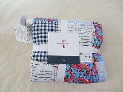 Vineyard Vines for Target PATCHWORK Baby Blanket Quilt Multi Color NWT