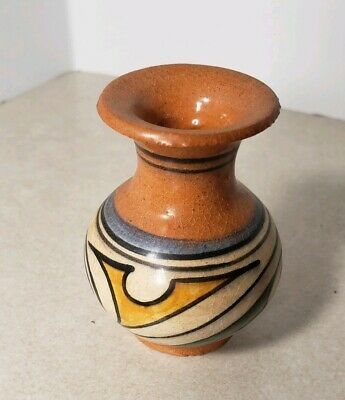 Handcrafted Panama Souvenir Red Clay Pottery Vase Miniature
