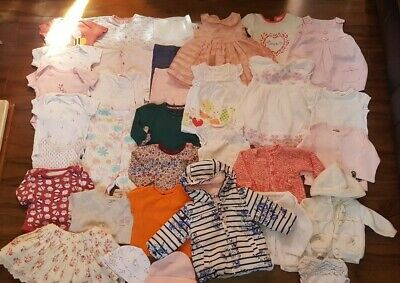 *F*A*B* Large Baby Girl Bundle * 0-3 Months* dresses *tops*jacket * cardigans