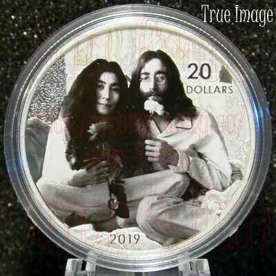 2019 Give Peace a Chance John Lennon Yoko Ono $20 Pure Silver Proof Coin Canada
