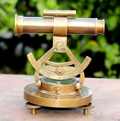 Handmade Solid Brass Working Alidade Compass Nautical Marine Instruments Alidade