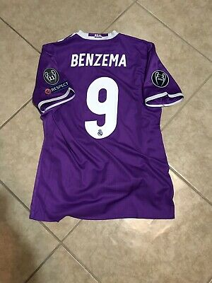 f701f09e88b Real Madrid Benzema 8 France Player Issue Match Unworn Prepared Maillot  Shirt