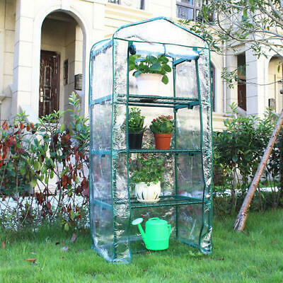 NEW 4-Tier Mini Greenhouse Growhouse Garden PVC Cover NEXT DAY DELIVERY