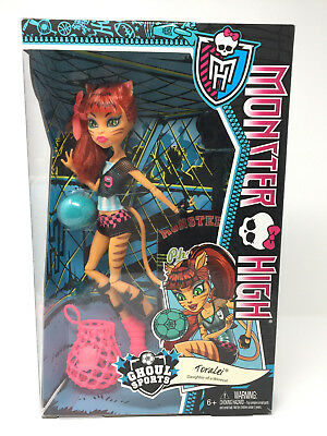 Monster High Ghoul Sports Toralei Doll BJR14 2013  DISCONTINUED *NEW*
