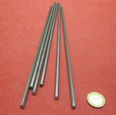 "12L14 Carbon Steel Hex Rod 3/16"" Hex x 1 Foot Length, 6 Units"