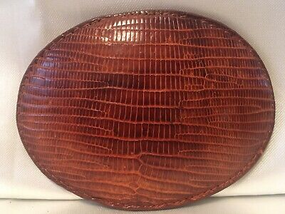 JUSTIN Leather Belt Buckle Snakeskin EXCELLENT VINTAGE