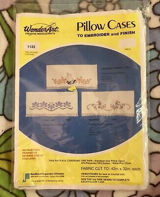Wonderart Prelude 1122 Pair Of Pillow Cases To Embroider