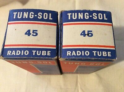 Vintage Tung-Sol 45 Single Ended Direct Heated Tubes Rare