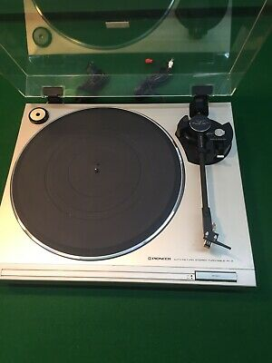 VINTAGE PIONEER PL-2 Turntable AUTO  Return Record Player With AT-10 Cartridge
