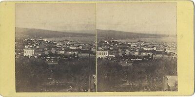 City to Identify France Italy Spain? Photo Stereo Vintage Albumin