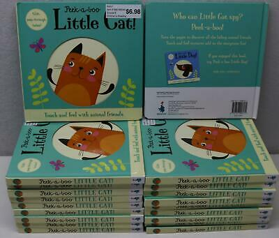 20 Pack Lot Peek-A-Boo Little Cat! Hardcover Classroom Book Touch, Feel, & Trace