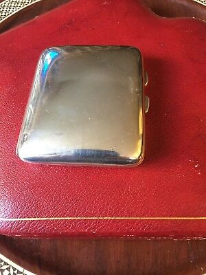 Antique Vintage Cigarette Case Solid Sterling Silver Birmingham 1922 Tfnicholls